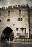 Main square In Fabriano town Royalty Free Stock Photos