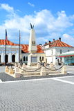 Main square in the fortress of Alba Iulia, Transylvania Stock Photography