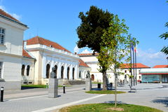 Main square in the fortress of Alba Iulia, Transylvania Stock Photo