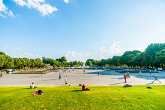 Main square and fountain of Moscow Gorky park Stock Photography