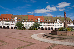 Main square in freudenstadt, Germany Royalty Free Stock Photo