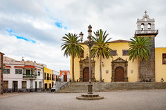 Main square of Garachico. Tenerife, Canary Islands, Spain Royalty Free Stock Photo