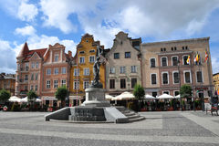Main square in Grudziądz, Poland Royalty Free Stock Photos