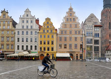 The main square of the historic center of Wroclaw Stock Photos