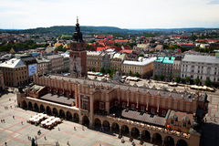 Main Square - historical center of Krakow Royalty Free Stock Photos