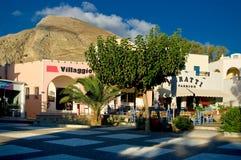 The main square in Kamari. Royalty Free Stock Photo