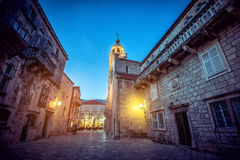 Main square in Korcula Stock Photography