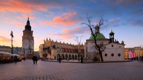 Main square in Krakow. Stock Image