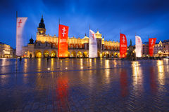 Main square in Krakow. Royalty Free Stock Image