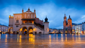 Main square in Krakow. Stock Photos