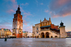 Main square in Krakow. Stock Images