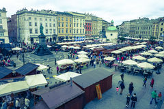 Main square at Krakow, Poland royalty free stock photo