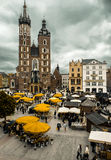 Main square at Krakow, Poland stock image
