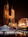 Main square at Krakow, Poland Stock Photography