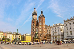 Main square in Krakow Royalty Free Stock Photography