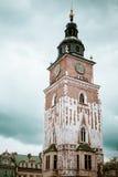 Main square at Krakow, Poland Stock Image