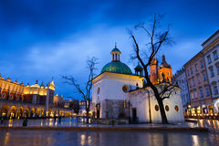 Main square in Krakow. Stock Photography