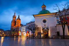 Main square in Krakow. Royalty Free Stock Photo