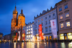Main square in Krakow. Royalty Free Stock Photos
