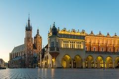 Main square in Krakow Royalty Free Stock Photos
