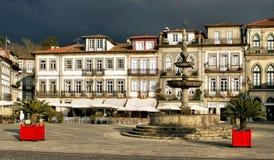 Main square Largo de Camoes royalty free stock photography