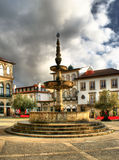 Main square Largo de Camoes royalty free stock photos