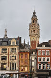 Main square in Lille, France. Historical Buildings in the city of Lille. In the nord of France. Lille was cultural capital of Europe in 2004 Royalty Free Stock Photos