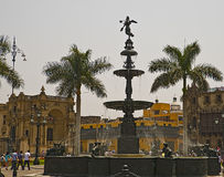 Main square of Lima, Perú Stock Photo