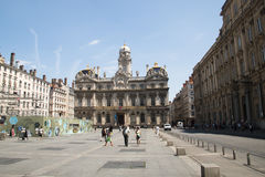 Main square of Lyon, France Royalty Free Stock Photo