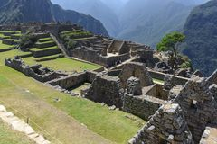 Main Square of Machu Picchu, Peru Royalty Free Stock Images