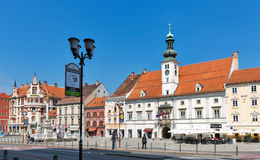 Main Square in Maribor, Slovenia royalty free stock photography