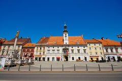 Main Square in Maribor, Slovenia Stock Photo