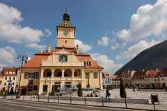 The main square of the medieval city of Brasov,Romania Stock Image