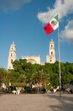 Main Square of Merida (Mexico) stock image
