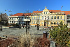 Main square in Milevsko Stock Photography