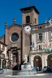 Main square in Moncalieri Stock Photos