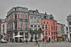 Main square of Mons Stock Photos