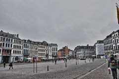 Main square of Mons Royalty Free Stock Photo