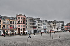 Main square of Mons Royalty Free Stock Photography