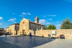 Main square in Monteriggioni, Siena Stock Photos