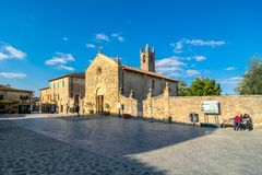 Main square in Monteriggioni, Siena Royalty Free Stock Photography