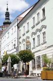 Main square in moravian town Mikulov, Czech republic Royalty Free Stock Photography
