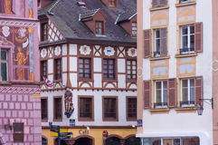 Main square of Mulhouse, France Stock Photo