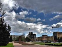 Main square of nikolaev Stock Photo