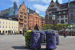 Main square in old part of malmö, sweden Stock Photography
