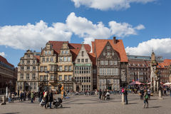 Main square in the old town of Bremen Royalty Free Stock Images