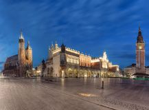 Main Square in Krakow Royalty Free Stock Images