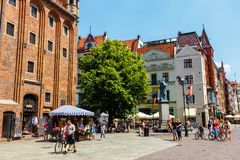 Main square in old town of Torun. Torun is birthplace of the astronomer Nicolaus Copernicus. stock images