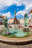 Main square in Olomouc, Czech Republic. UNESCO Royalty Free Stock Photos