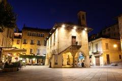 Main square at orta Royalty Free Stock Photo